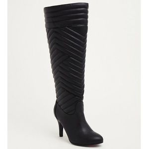 Torrid | Quilted Faux Leather Heeled Boot